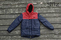 Зимний мужской пуховик/куртка/парка фред перри (Fred Perry) с капюшоном