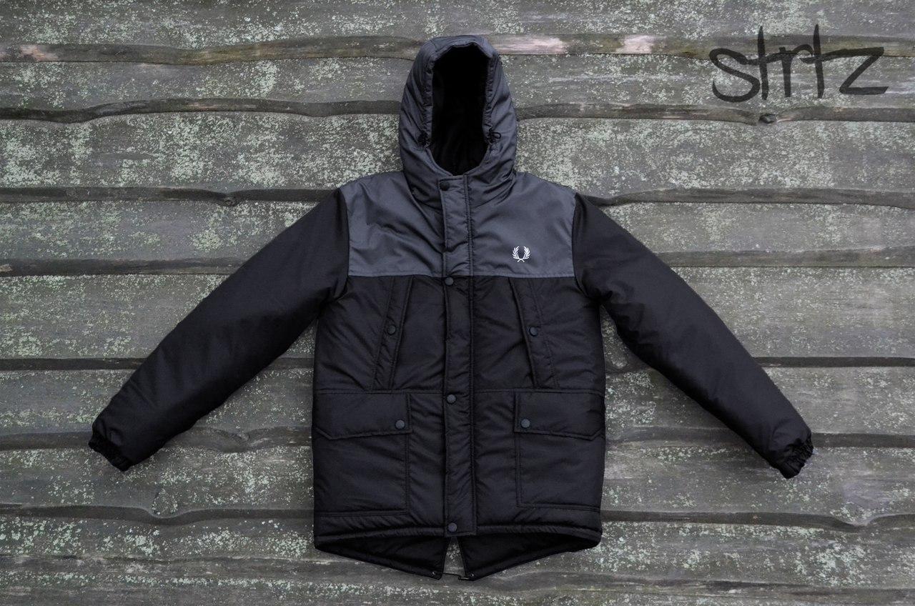 Зимняя мужская куртка/пуховик/парка фред перри (Fred Perry) двухцветная