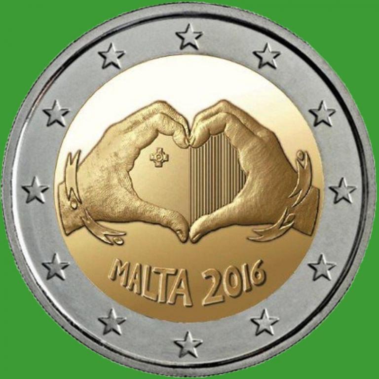 Мальта 2 евро 2016 г. Любовь . UNC.