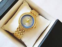 Женские часы ROLEX синие эффект кошачий глаз