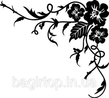 Виниловая наклейка - Цветы с узором 1