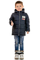 """Куртка детская для мальчика """"Demi"""" 32(110-116), Графит (темно-серый)"""