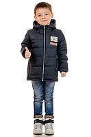"""Куртка детская для мальчика """"Demi"""" 34(116-122), Графит (темно-серый)"""