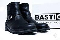 Ботинки мужские черные кожаные зимние