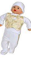Крестильный комплект для новорожденного в золоте