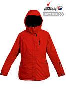 Женская зимняя куртка лыжная большого размера батальная Avecs 5745495 Red недорого | Avecs куртка размер