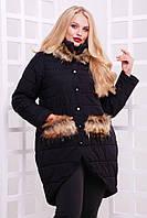 Зимняя женская куртка с мехом 5059 ОР, фото 1