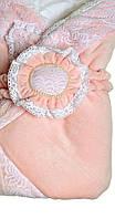 Конверт на выписку в велюре розовый