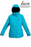 Женская зимняя куртка лыжная большого размера батал Avecs 5745495 Turquoise недорого   Avecs куртка размер