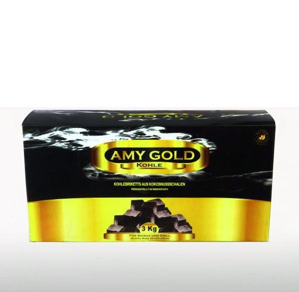 Уголь кокосовый AMY Gold 3 кг