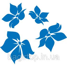 Вінілова інтер'єрна наклейка - Сині квіти
