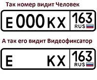 Нанопленка (Нано Пленка) на автомобильные номера от камер