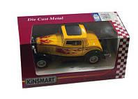 Модель желтая металлическая   1932 Ford 3-Window Coupe w/printing  арт. KT5332FW KT5332FW