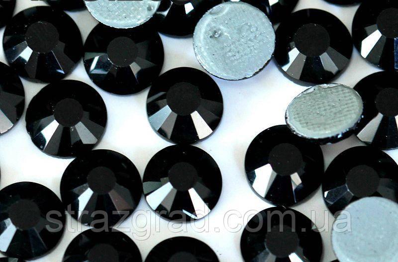 Стразы термоклеевые Premium JET BLACK SS10 Hot Fix 100 шт