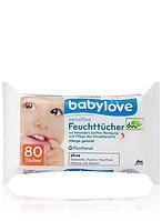 Детские влажные салфетки - Babylove sensitive Feuchttücher 80 Tüch