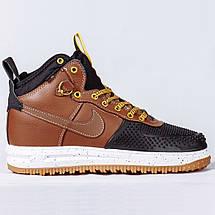 Кроссовки мужские Nike Air Lunar Force Duckboot (коричневые) зимние (Top replic), фото 3