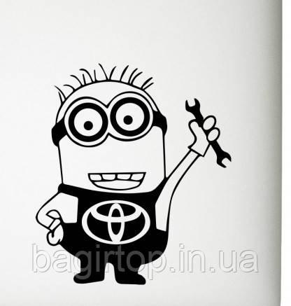 Виниловая наклейка на авто - Миньон