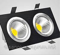 Светильник Downlight LED BR-002  20вт 230в  черный  3000К, фото 3