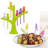 Шпажки для канапе, фруктов, закусок в виде Птичек, набор 6 шт.