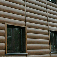 Металлосайдинг Блок хаус PRINTECH имитация деревянного сруба