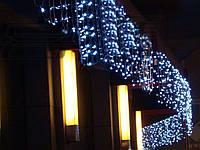 Штора 1.5х1.2м 144 led прозрачный провод, цвет белый холодный - декоративная гирлянда на Новый год