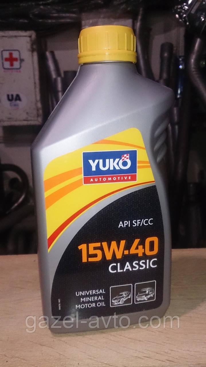 Масло моторное Yuko 15W-40 classic 1 l
