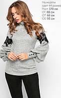 Блуза -гольф Виола серая, размеры 42-48