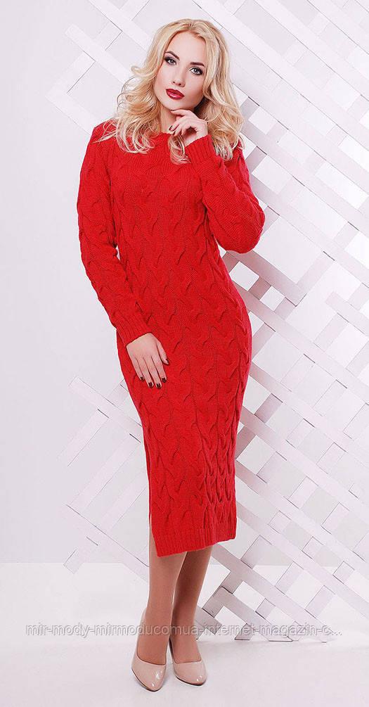 Платье длинное с разрезом красное(вст)3058