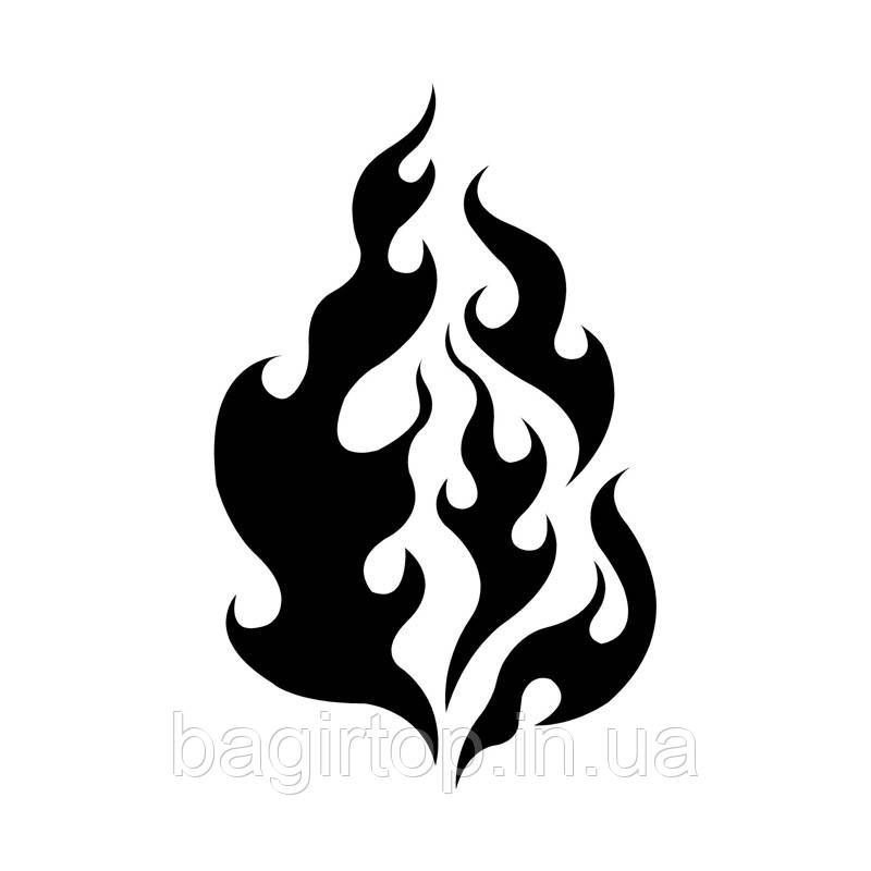 Вінілова наклейка на авто - вогонь 2