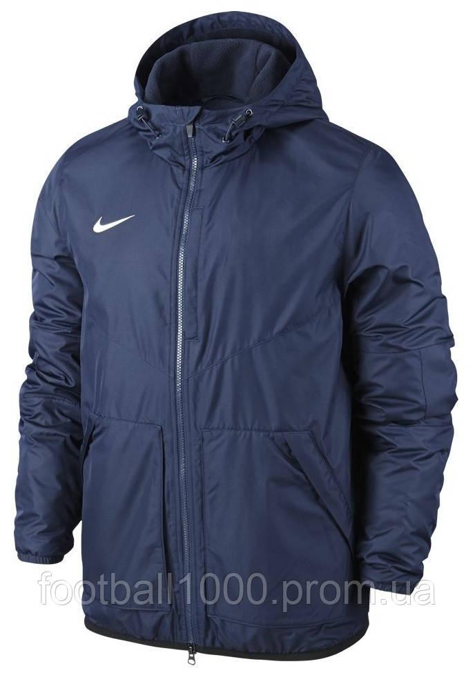 394b8cfc Детская утепленная куртка с капюшоном Nike JR Team Fall Jacket 645905-451 -  ГООООЛ›