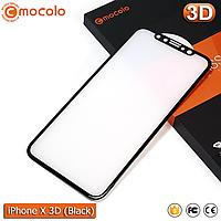 Защитное стекло Mocolo iPhone X (Black) 3D