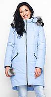 Куртка с капюшоном голубая