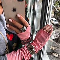 Розовые перчатки-митенки ТМ DORATTI