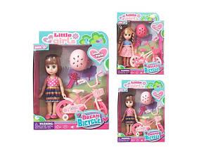 Лялька з велосипедом Little girl