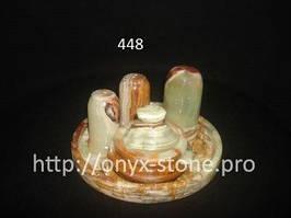 Набор для специй  из  натурального камня оникса
