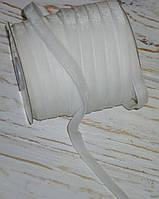 Бархатная лента 1 см белого цвета