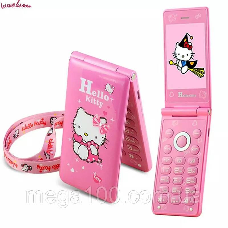 Телефон раскладушка, мобильный телефон hello Kitty