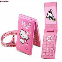 Телефон раскладушка hello Kitty
