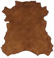 Велюр-шевро Royal коричнево-оранжевый, фото 1