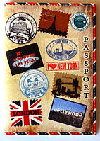 "Обложка на паспорт ""Марки"" 96"