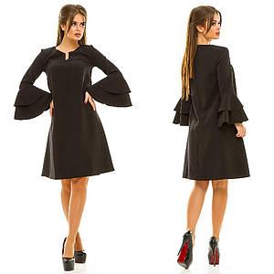 Платье с расклешенным рукавом, 6 цветов  арт 2916-87
