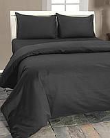 Ткань, сатин для постельного белья, однотонный, темно-серый