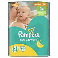 Подгузники Pampers New Baby-Dry 2 (3-6 кг) JUMBO PACK 94 шт.