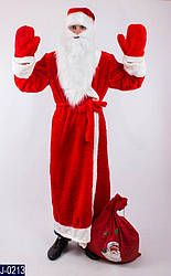 Карнавальный костюм ДЕД МОРОЗ В КРАСНОМ для взрослых, взрослый новогодний костюм ДЕДА МОРОЗА