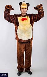 Карнавальный костюм МЕДВЕДЬ 'МАША И МЕДВЕДЬ' мужской (р.52-54, рост 180-190см)