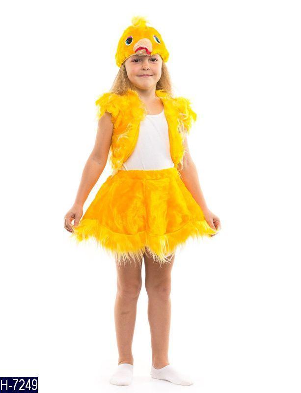 Детский карнавальный костюм ЦЫПЛЕНОК для девочки 3,4,5,6,7 лет, детский новогодний костюм ЦЫПЛЕНКА для девочки