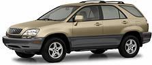 Защита заднего бампера Lexus RX (1997-2003)