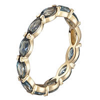 Кольцо в желтом золоте Арина с лондон топазом 000056667