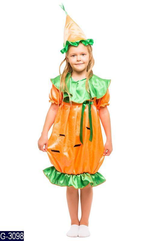 Карнавальный костюм МОРКОВКА, МОРКОВЬ для девочки 3,4,5,6,7,8 лет детский маскарадный костюм