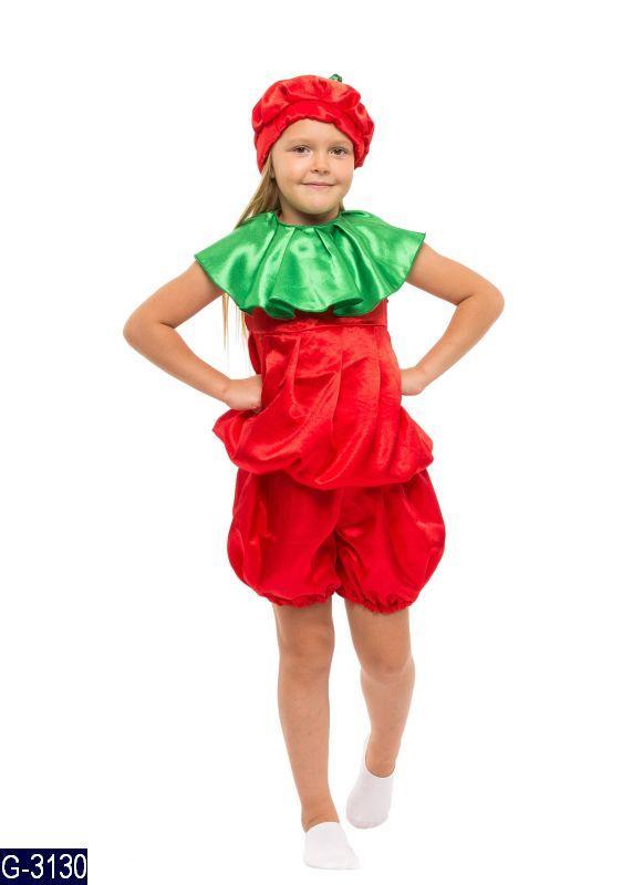 Карнавальный костюм ПОМИДОР, ПОМИДОРЧИК, ПОМИДОРКА на 3,4,5,6,7,8 лет детский маскарадный костюм